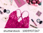 fashion collection with lace... | Shutterstock . vector #1005937267