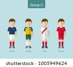 2018 soccer or football team... | Shutterstock .eps vector #1005949624