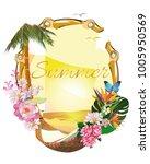 design of tropical background... | Shutterstock .eps vector #1005950569