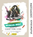 music party brochure  flyer ... | Shutterstock .eps vector #1005951094