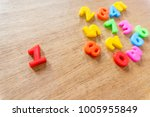 number one separate from... | Shutterstock . vector #1005955849