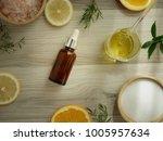 natural cosmetic skincare serum ... | Shutterstock . vector #1005957634