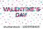 happy saint valentines day... | Shutterstock .eps vector #1005958405