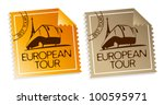 european tour vector tickets. | Shutterstock .eps vector #100595971
