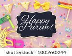 purim celebration concept ... | Shutterstock . vector #1005960244