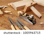 diy concept. woodworking and... | Shutterstock . vector #1005963715
