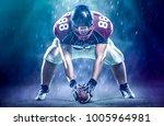 american football player... | Shutterstock . vector #1005964981