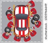maintenance of a racing car.... | Shutterstock .eps vector #1005966649