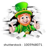 a cute st patricks day... | Shutterstock .eps vector #1005968071