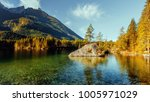 wonderful sunny landscape on... | Shutterstock . vector #1005971029
