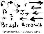 grunge dry brush arrows | Shutterstock .eps vector #1005974341