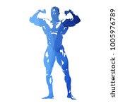 posing bodybuilder  abstract... | Shutterstock .eps vector #1005976789