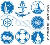 anchor,art,background,blue,boat,circle,compass,cruise,design,graphic,icon,illustration,isolated,life ring,nautical