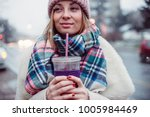 young women on city street... | Shutterstock . vector #1005984469