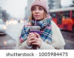 young women on city street... | Shutterstock . vector #1005984475