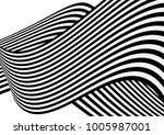 vector overlapping wave strips... | Shutterstock .eps vector #1005987001