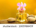 bottle of aroma essential oil...   Shutterstock . vector #1005988459
