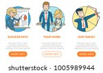 linear flat page interface web... | Shutterstock .eps vector #1005989944