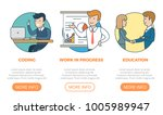 linear flat page interface web... | Shutterstock .eps vector #1005989947