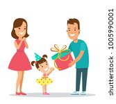 flat family children vector... | Shutterstock .eps vector #1005990001