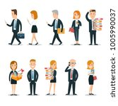 flat style business people... | Shutterstock .eps vector #1005990037