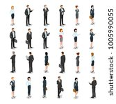 flat isometric business people... | Shutterstock .eps vector #1005990055