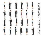 Flat Isometric Business People...