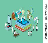 flat 3d isometric style science ... | Shutterstock .eps vector #1005990061