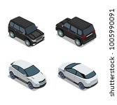 flat 3d isometric high quality... | Shutterstock .eps vector #1005990091