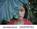 beauty  skincare and natural...   Shutterstock . vector #1005990781