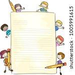 illustration of stickman kids... | Shutterstock .eps vector #1005991615
