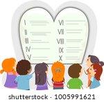 illustration of stickman kids... | Shutterstock .eps vector #1005991621