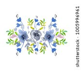 flowers watercolor illustration.... | Shutterstock . vector #1005996961