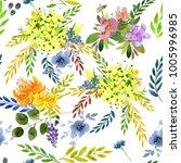 seamless spring pattern on a... | Shutterstock . vector #1005996985