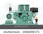 factory industrial machine... | Shutterstock .eps vector #1006000171