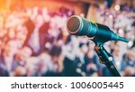 microphone in the meeting room. ... | Shutterstock . vector #1006005445