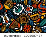 floral seamless pattern with... | Shutterstock .eps vector #1006007437