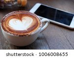 coffee cup of mocha with heart... | Shutterstock . vector #1006008655