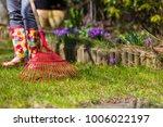 garden cleaning. ripening... | Shutterstock . vector #1006022197