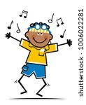 dancer and music note  funny...   Shutterstock .eps vector #1006022281