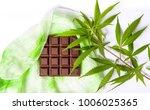 chocolate block with marijuana...   Shutterstock . vector #1006025365