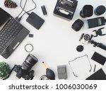 top view of photographer... | Shutterstock . vector #1006030069