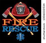 fire rescue design is an... | Shutterstock .eps vector #1006033534