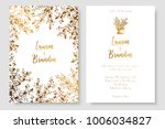gold invitation with abstract... | Shutterstock .eps vector #1006034827
