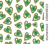 heart seamless pattern | Shutterstock .eps vector #1006038121