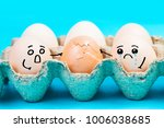 Small photo of Egg with expression,Eggs express love