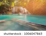 erawan blue stream waterfall in ... | Shutterstock . vector #1006047865