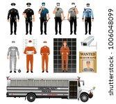 prisoner and prison guard...   Shutterstock .eps vector #1006048099