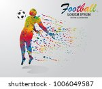 visual drawing soccer sport at... | Shutterstock .eps vector #1006049587