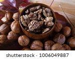 walnuts and peeled walnuts | Shutterstock . vector #1006049887